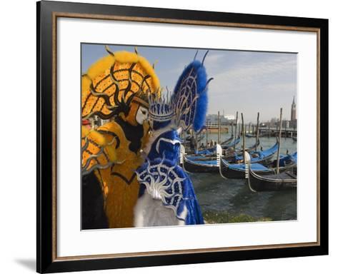 Masked Faces and Costume at the Venice Carnival, Venice, Italy-Christian Kober-Framed Art Print