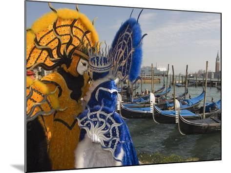 Masked Faces and Costume at the Venice Carnival, Venice, Italy-Christian Kober-Mounted Photographic Print