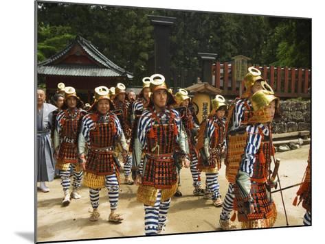 Men in Traditional Samurai Costume, Toshogu Shrine, Tochigi Prefecture, Japan-Christian Kober-Mounted Photographic Print