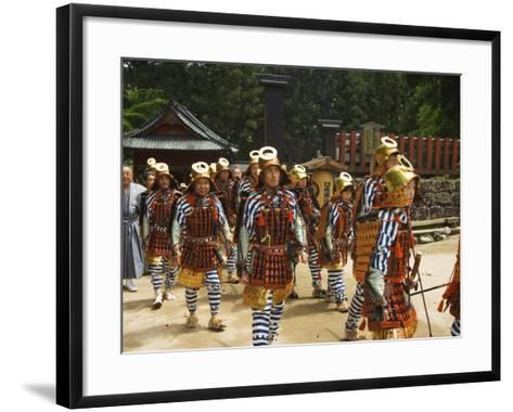 Men in Traditional Samurai Costume, Toshogu Shrine, Tochigi Prefecture, Japan-Christian Kober-Framed Art Print