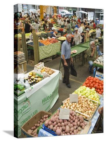 Fruit and Vegetable Market, Sarajevo, Bosnia, Bosnia-Herzegovina-Christian Kober-Stretched Canvas Print