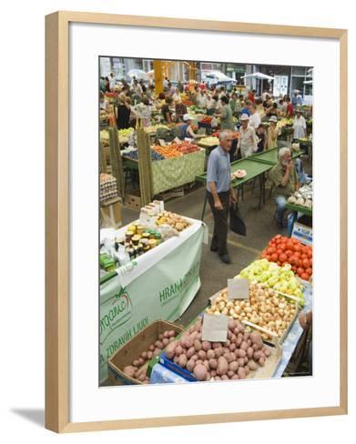 Fruit and Vegetable Market, Sarajevo, Bosnia, Bosnia-Herzegovina-Christian Kober-Framed Art Print