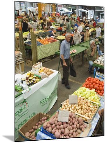 Fruit and Vegetable Market, Sarajevo, Bosnia, Bosnia-Herzegovina-Christian Kober-Mounted Photographic Print