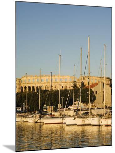 Afternoon Light on Harbour Yachts, and 1st Century Roman Amphitheatre, Pula, Istria Coast, Croatia-Christian Kober-Mounted Photographic Print
