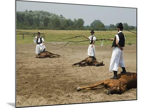 Hungarian Cowboy Horse Show, Bugaci Town, Kiskunsagi National Park, Hungary-Christian Kober-Mounted Photographic Print