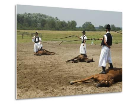 Hungarian Cowboy Horse Show, Bugaci Town, Kiskunsagi National Park, Hungary-Christian Kober-Metal Print