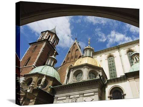 Wawel Cathedral Dating from 14th Century, Old Town, Unesco World Heritage Site, Krakow, Poland-Christian Kober-Stretched Canvas Print