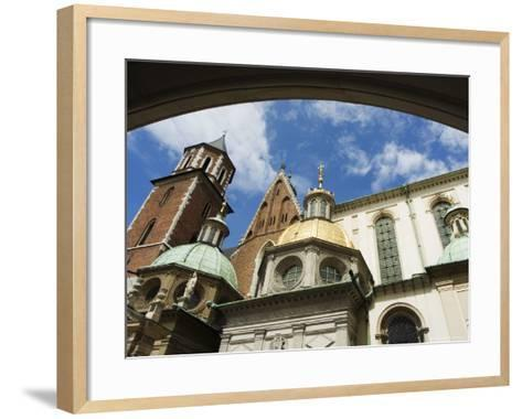 Wawel Cathedral Dating from 14th Century, Old Town, Unesco World Heritage Site, Krakow, Poland-Christian Kober-Framed Art Print
