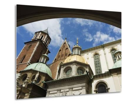 Wawel Cathedral Dating from 14th Century, Old Town, Unesco World Heritage Site, Krakow, Poland-Christian Kober-Metal Print