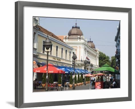 Outdoor Cafes on Kneza Mihailova Pedestrian Boulevard, Belgrade, Serbia-Christian Kober-Framed Art Print