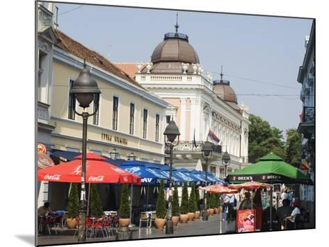 Outdoor Cafes on Kneza Mihailova Pedestrian Boulevard, Belgrade, Serbia-Christian Kober-Mounted Photographic Print