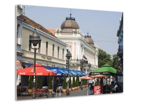 Outdoor Cafes on Kneza Mihailova Pedestrian Boulevard, Belgrade, Serbia-Christian Kober-Metal Print