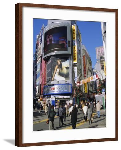 Street Scene, Shinjuku, Tokyo, Japan-Christian Kober-Framed Art Print