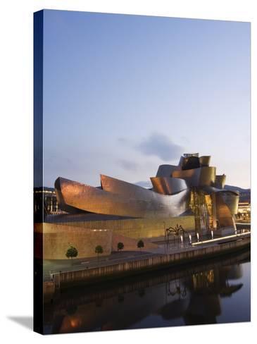 Guggenheim Modern Art Museum Designed by Frank Gehry, Bilbao, Basque Country, Euskadi, Spain-Christian Kober-Stretched Canvas Print