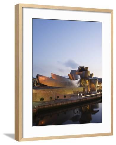 Guggenheim Modern Art Museum Designed by Frank Gehry, Bilbao, Basque Country, Euskadi, Spain-Christian Kober-Framed Art Print
