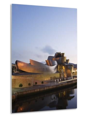 Guggenheim Modern Art Museum Designed by Frank Gehry, Bilbao, Basque Country, Euskadi, Spain-Christian Kober-Metal Print