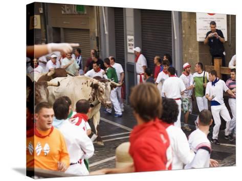 San Fermin, Running of the Bulls Festival, Pamplona, Navarra, Euskadi, Spain-Christian Kober-Stretched Canvas Print