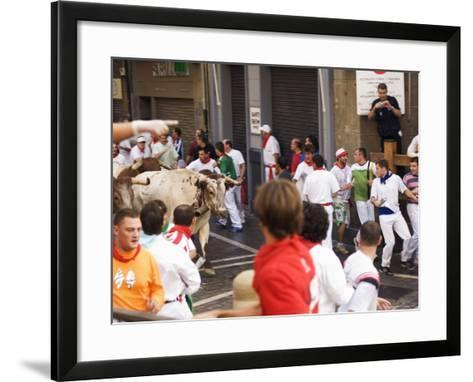 San Fermin, Running of the Bulls Festival, Pamplona, Navarra, Euskadi, Spain-Christian Kober-Framed Art Print