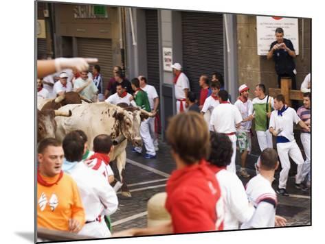 San Fermin, Running of the Bulls Festival, Pamplona, Navarra, Euskadi, Spain-Christian Kober-Mounted Photographic Print