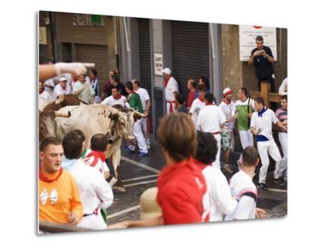 San Fermin, Running of the Bulls Festival, Pamplona, Navarra, Euskadi, Spain-Christian Kober-Metal Print