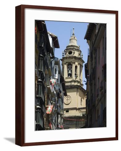 Cathedral Church, Pamplona, Navarra, Euskadi, Spain-Christian Kober-Framed Art Print