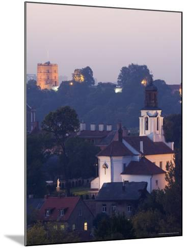 Old Town and City Centre with Gediminas Tower and Russian Orthodox Church of the Holy Mother of God-Christian Kober-Mounted Photographic Print