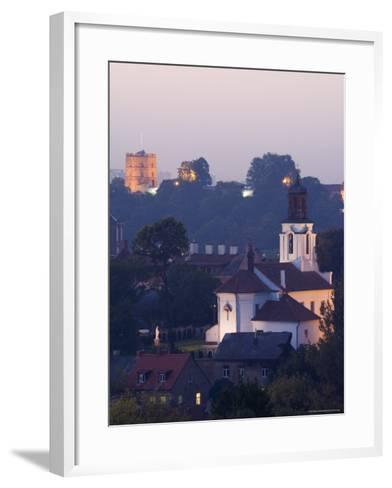 Old Town and City Centre with Gediminas Tower and Russian Orthodox Church of the Holy Mother of God-Christian Kober-Framed Art Print