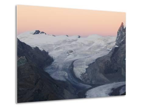 Monte Rosa Glacier at Dusk, Zermatt Alpine Resort, Valais, Switzerland-Christian Kober-Metal Print