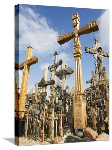 Hill of Crosses, a Tradition of Planting Crosses Since the 14th Century, Baltic States-Christian Kober-Stretched Canvas Print