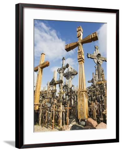 Hill of Crosses, a Tradition of Planting Crosses Since the 14th Century, Baltic States-Christian Kober-Framed Art Print