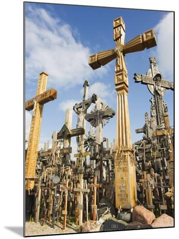 Hill of Crosses, a Tradition of Planting Crosses Since the 14th Century, Baltic States-Christian Kober-Mounted Photographic Print