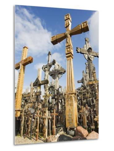 Hill of Crosses, a Tradition of Planting Crosses Since the 14th Century, Baltic States-Christian Kober-Metal Print