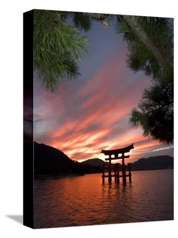 Torii Shrine Gate in the Sea, Miyajima Island, Honshu, Japan-Christian Kober-Stretched Canvas Print