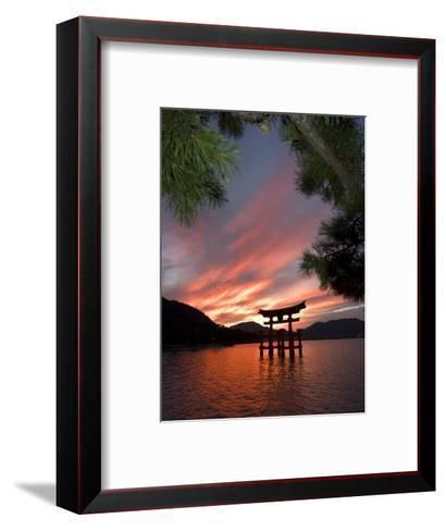 Torii Shrine Gate in the Sea, Miyajima Island, Honshu, Japan-Christian Kober-Framed Art Print
