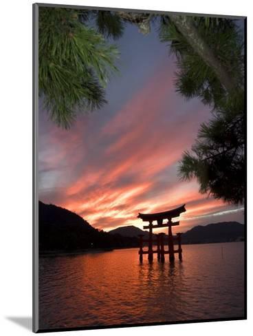 Torii Shrine Gate in the Sea, Miyajima Island, Honshu, Japan-Christian Kober-Mounted Photographic Print