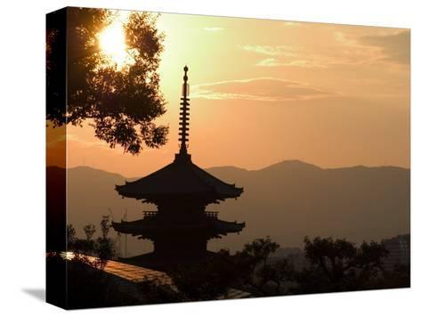 Sunset, Yasaka No to Pagoda, Kyoto City, Honshu, Japan-Christian Kober-Stretched Canvas Print