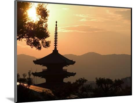 Sunset, Yasaka No to Pagoda, Kyoto City, Honshu, Japan-Christian Kober-Mounted Photographic Print