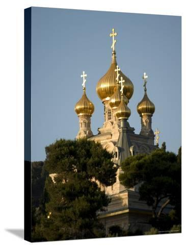 Russian Orthodox Church of Mary Magdalene, Mount of Olives, Jerusalem, Israel, Middle East-Christian Kober-Stretched Canvas Print