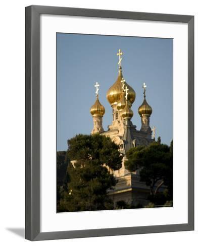 Russian Orthodox Church of Mary Magdalene, Mount of Olives, Jerusalem, Israel, Middle East-Christian Kober-Framed Art Print