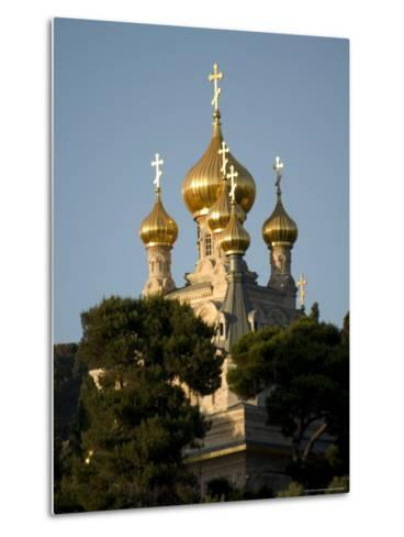 Russian Orthodox Church of Mary Magdalene, Mount of Olives, Jerusalem, Israel, Middle East-Christian Kober-Metal Print