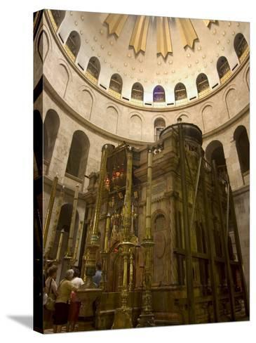 Tomb of Jesus Christ, Church of the Holy Sepulchre, Old Walled City, Jerusalem, Israel-Christian Kober-Stretched Canvas Print