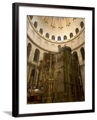 Tomb of Jesus Christ, Church of the Holy Sepulchre, Old Walled City, Jerusalem, Israel-Christian Kober-Framed Art Print