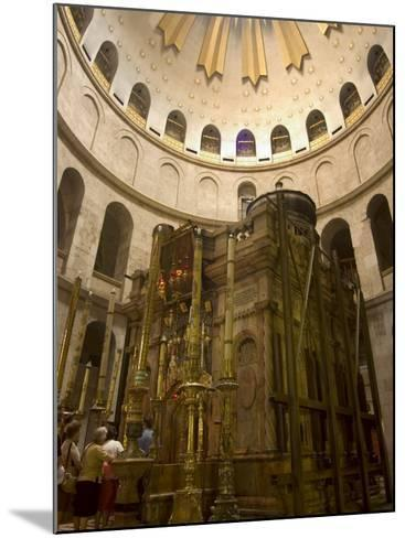 Tomb of Jesus Christ, Church of the Holy Sepulchre, Old Walled City, Jerusalem, Israel-Christian Kober-Mounted Photographic Print