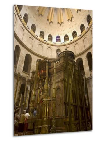 Tomb of Jesus Christ, Church of the Holy Sepulchre, Old Walled City, Jerusalem, Israel-Christian Kober-Metal Print
