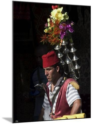 Man Selling Tea in Traditional Costume, Old Walled City, Jerusalem, Israel, Middle East-Christian Kober-Mounted Photographic Print