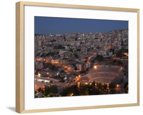 Roman Theatre at Night, Amman, Jordan, Middle East-Christian Kober-Framed Art Print