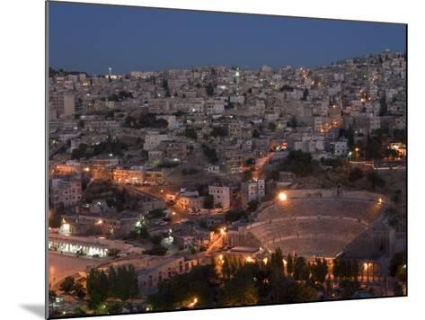Roman Theatre at Night, Amman, Jordan, Middle East-Christian Kober-Mounted Photographic Print