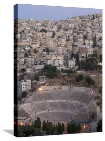 Roman Theatre in the Evening, Amman, Jordan, Middle East-Christian Kober-Stretched Canvas Print