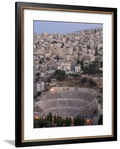 Roman Theatre in the Evening, Amman, Jordan, Middle East-Christian Kober-Framed Art Print