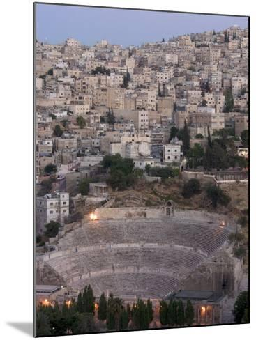 Roman Theatre in the Evening, Amman, Jordan, Middle East-Christian Kober-Mounted Photographic Print
